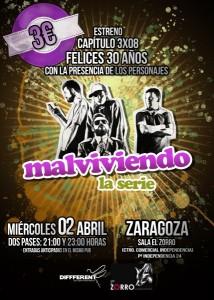 Cartel 3x08 Zaragoza 2